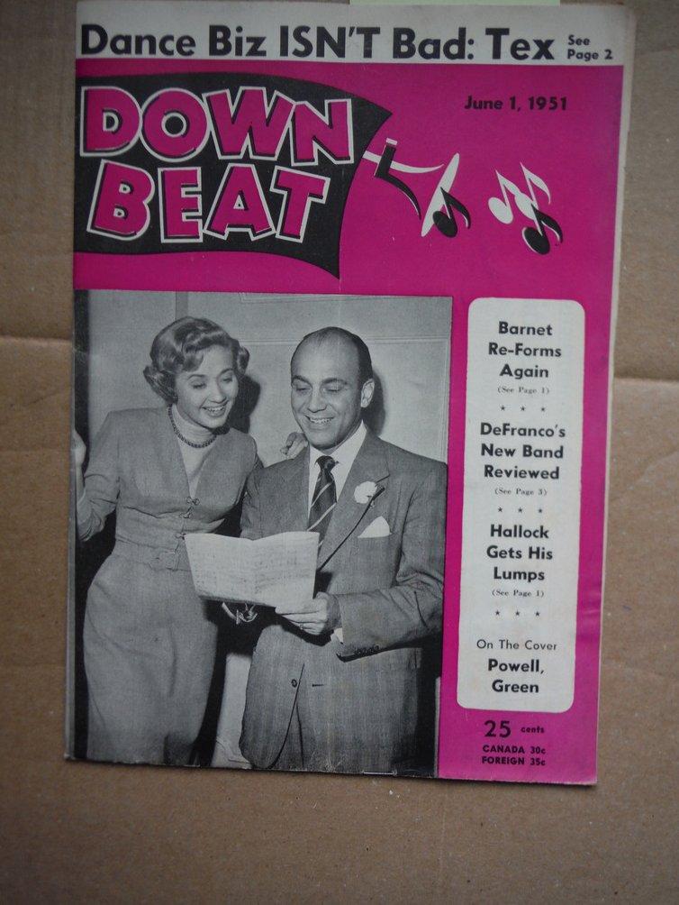 Image 0 of Down Beat Magazine - June 1, 1951