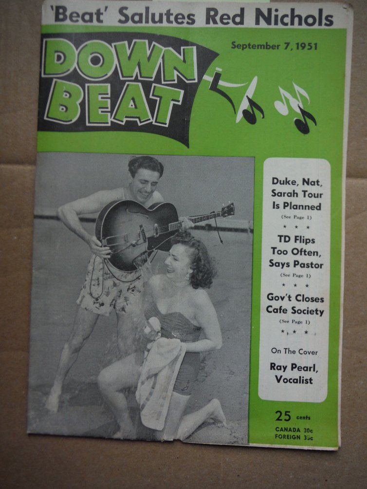 Image 0 of Down Beat Magazine - September 7, 1951