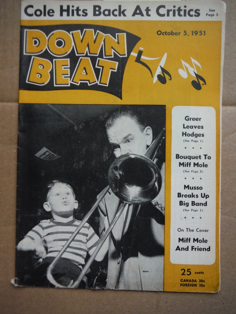 Image 0 of Down Beat Magazine - October 5, 1951