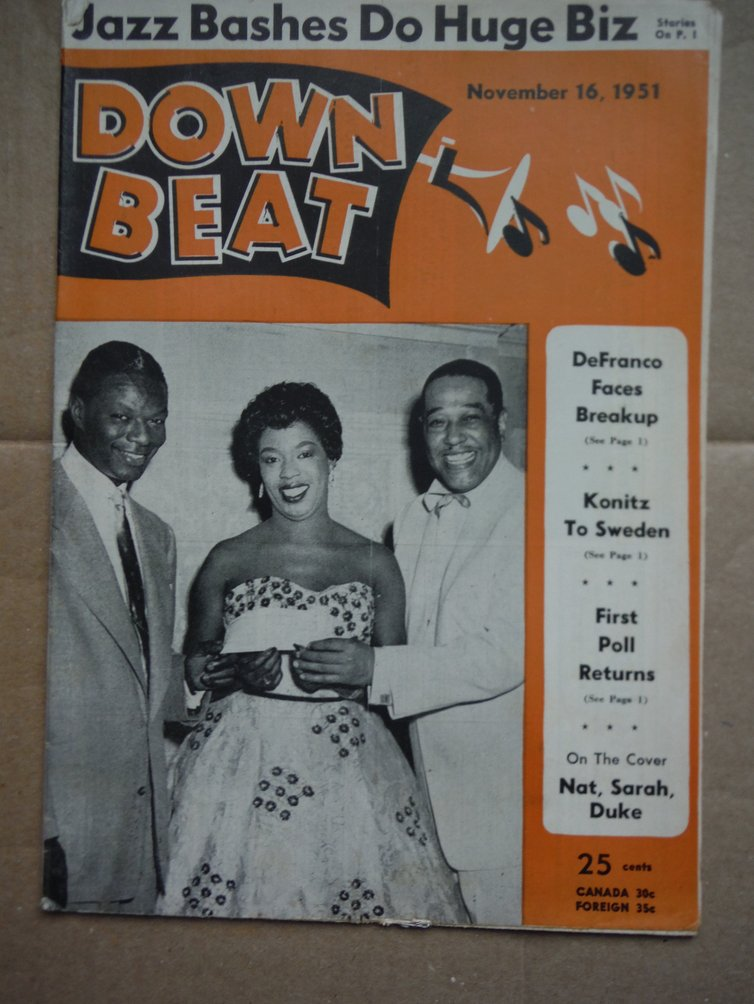 Image 0 of Down Beat Magazine - November 16, 1951