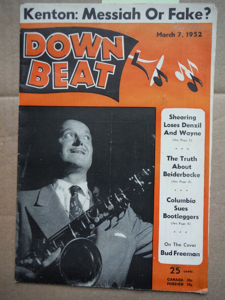Image 0 of Down Beat Magazine - March 7, 1952