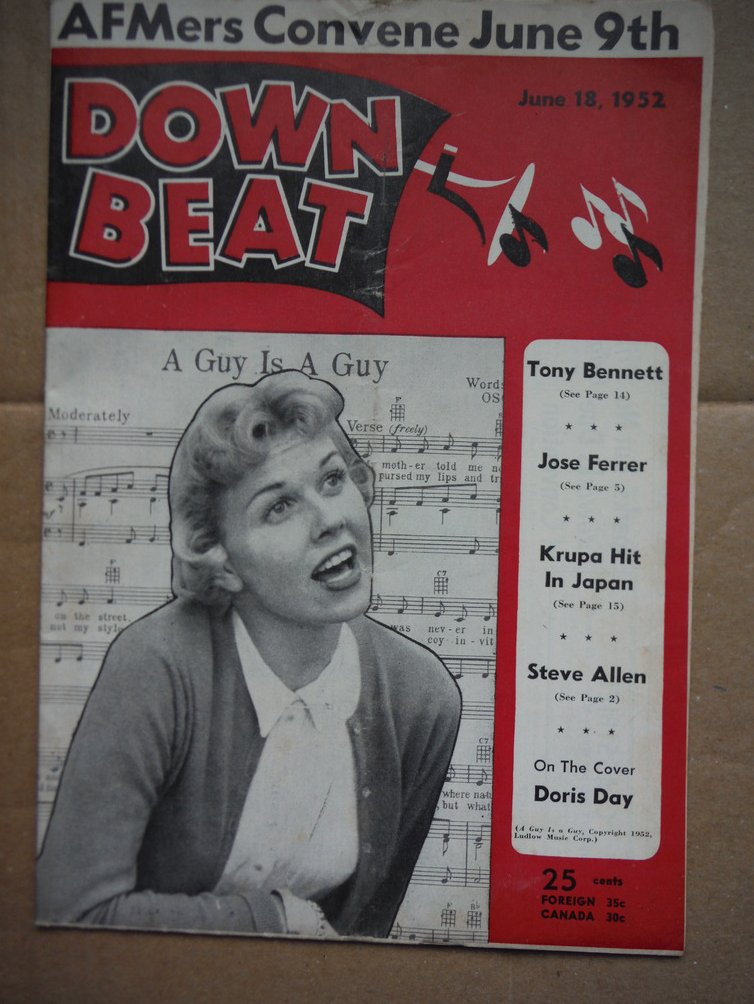 Image 0 of Down Beat Magazine - June 18, 1952