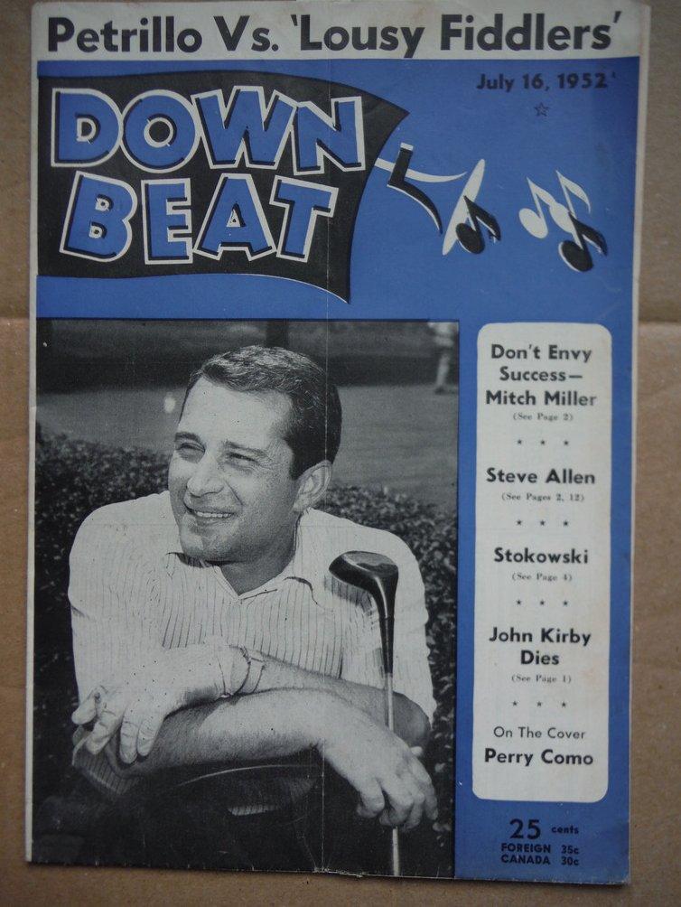 Image 0 of Down Beat Magazine - July 16, 1952
