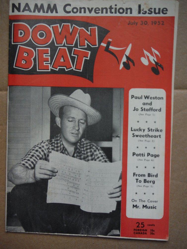 Image 0 of Down Beat Magazine - July  30, 1952