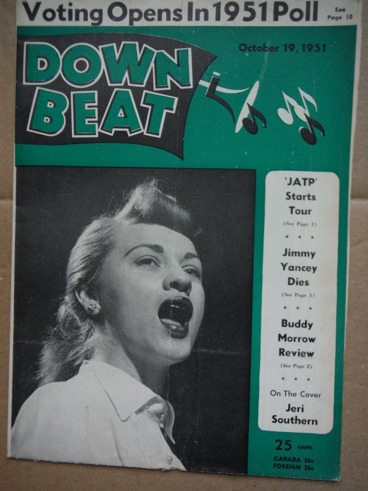 Image 0 of Down Beat Magazine - October 19, 1952