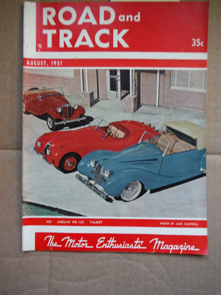 Image 0 of Road and Track the Motor Enthusiasts' Magazine - Vol. 3 No. 1 (August, 1951