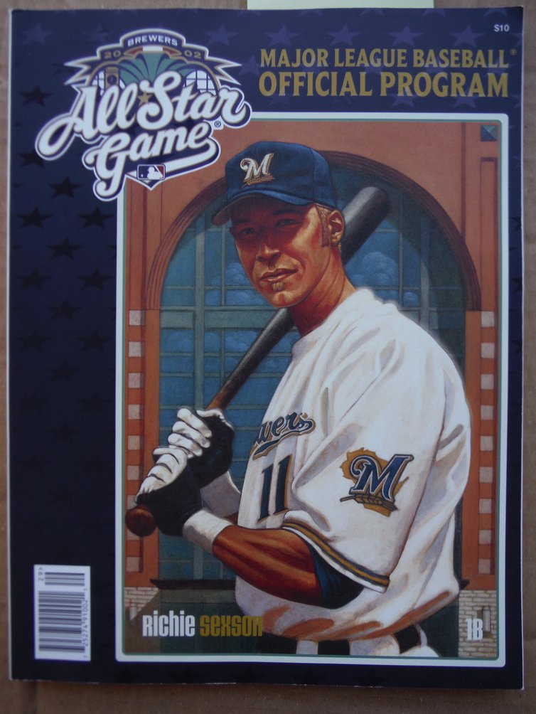 2002 All Star Game Major League Baseball Official Program