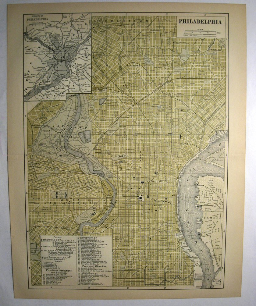 Image 0 of Johnson's  Map of Philadelphia  (Pennsylvania)-  Original (1897)