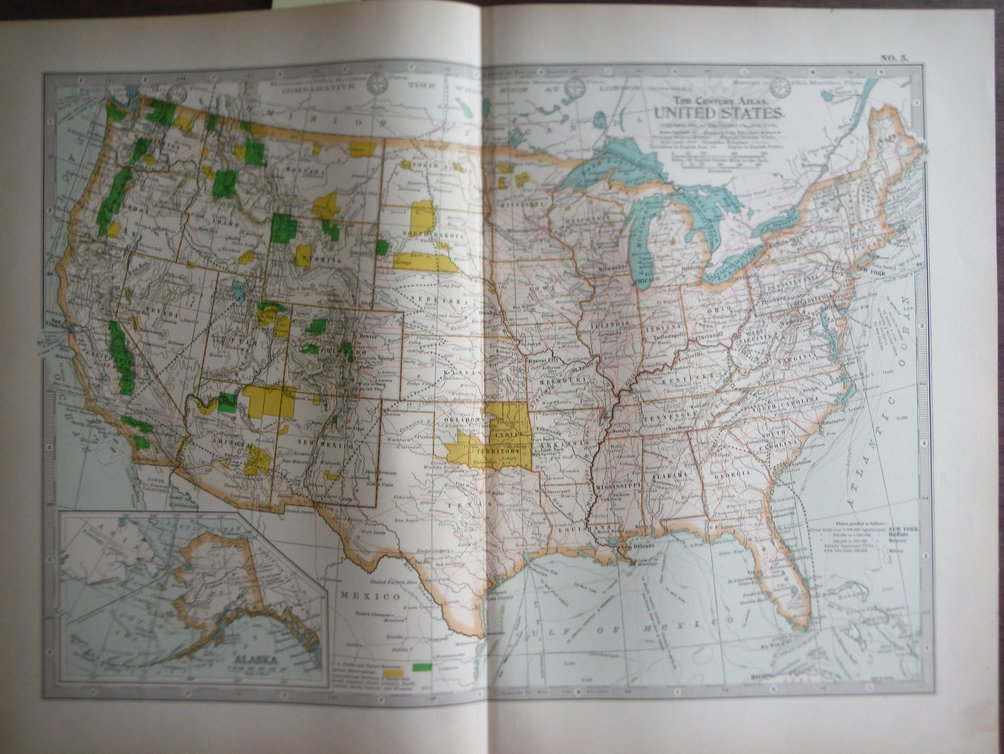 The Century Atlas Map, United States  (1897)