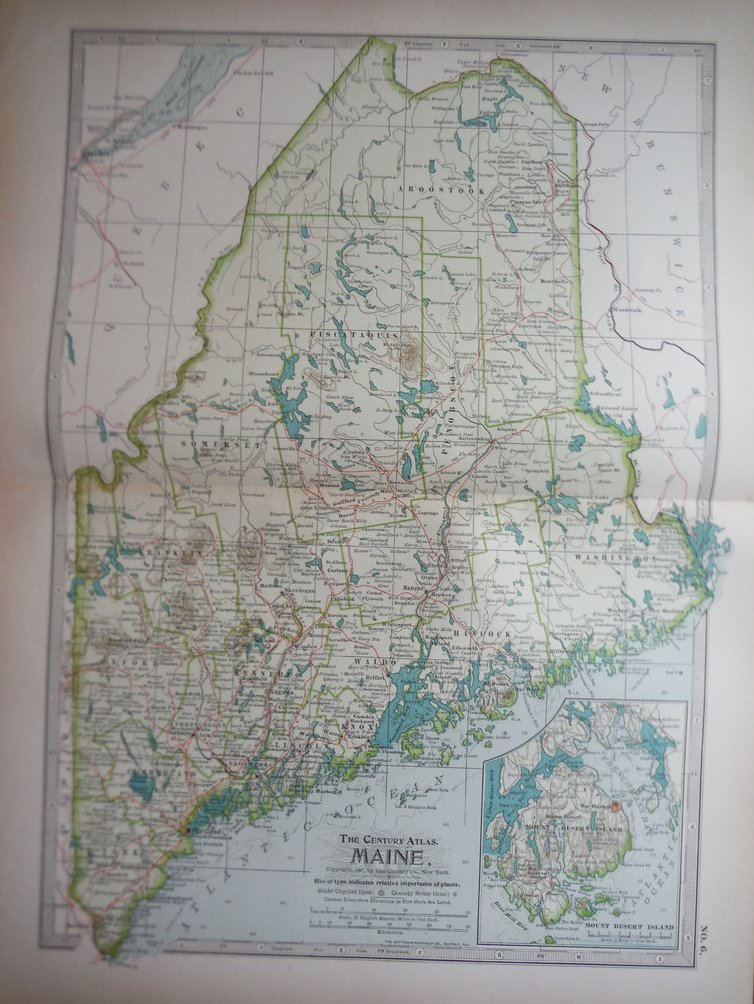 The Century Atlas Map, Maine  (1897)
