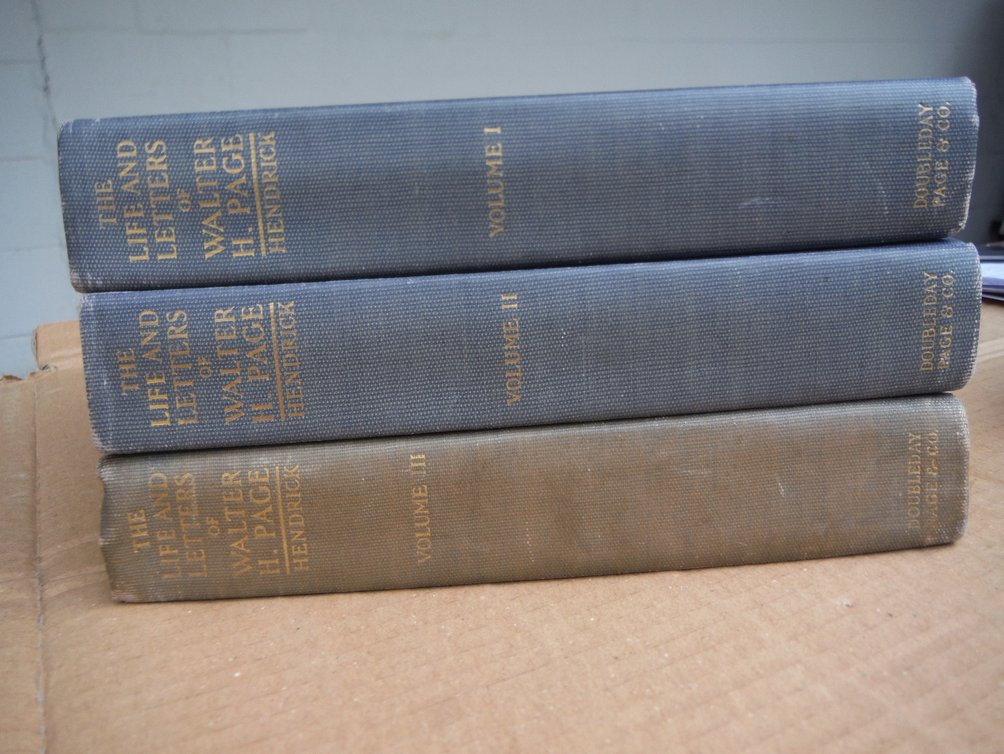 Image 0 of THE LIFE AND LETTERS OF WALTER H. PAGE 3-VOLS SET