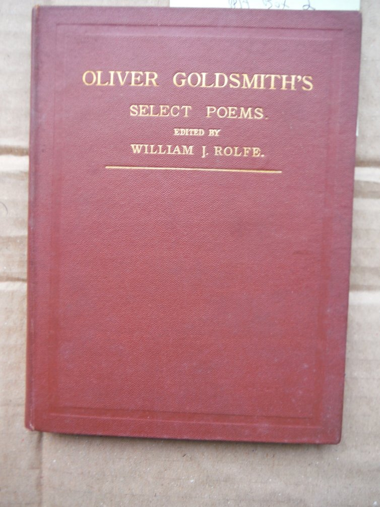Image 0 of Select Poems of Oliver Goldsmith
