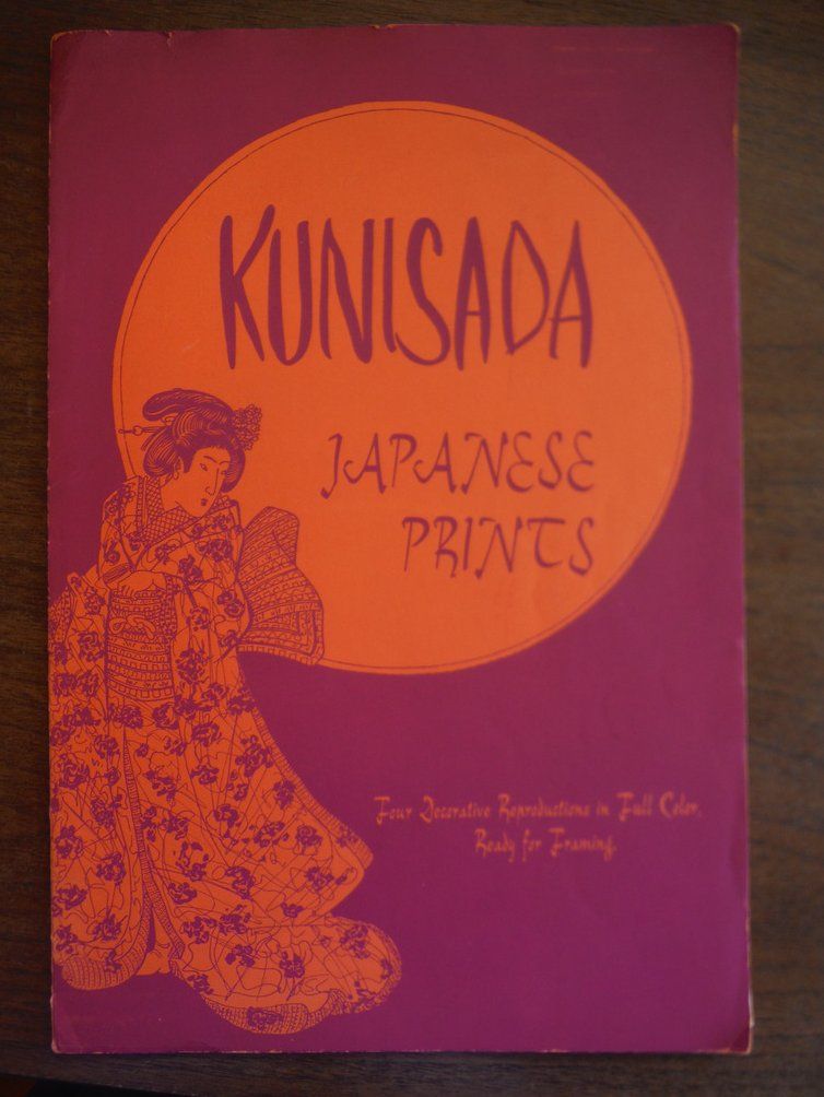 Kunisada Japanse Prints Four Decorative Reproductions in Full Color Ready for Fr