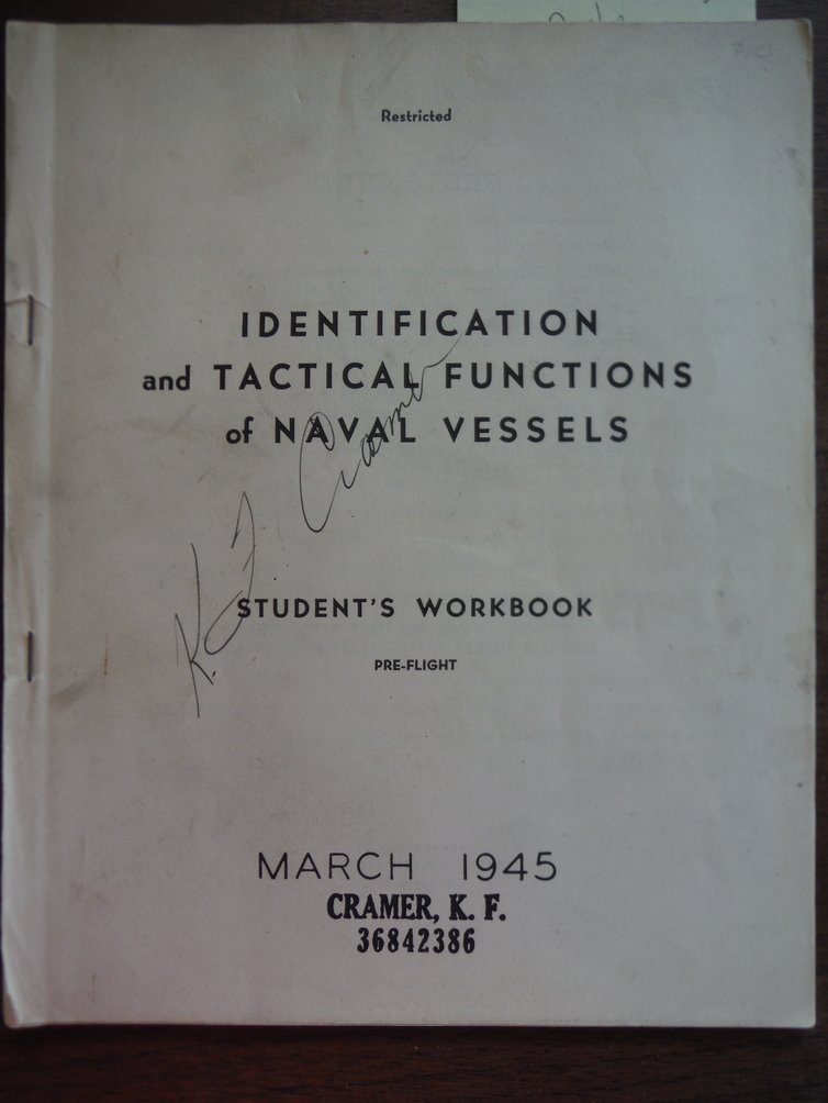 Identification & Tactical Functions of Naval Vessels. Student's Workbook. Prefli