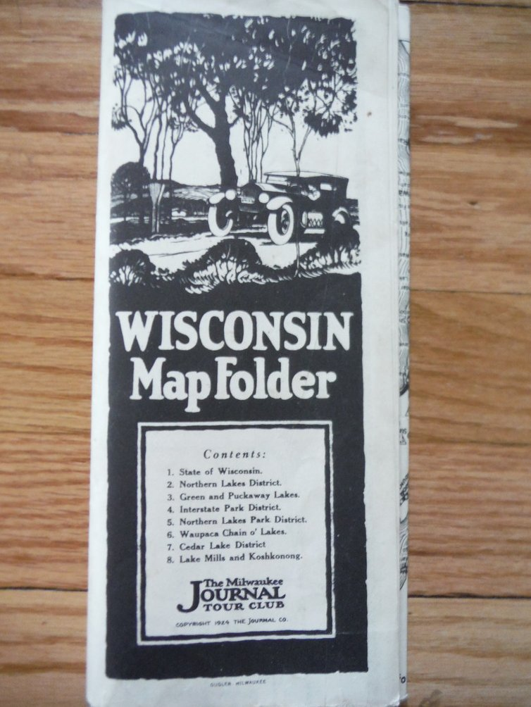 State of Wisconsin Map Folder (1924)