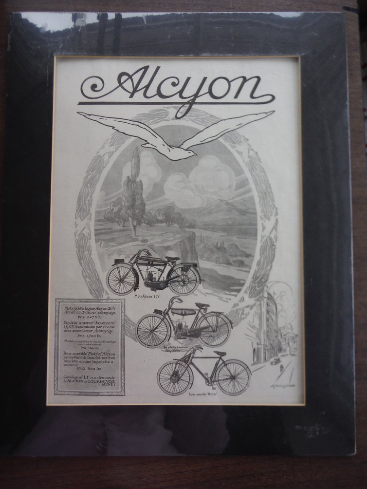 Alcyon Moto 2CV Bicycle Motrix Alcyonnette Bicyclette - Original Magazine Ad 192