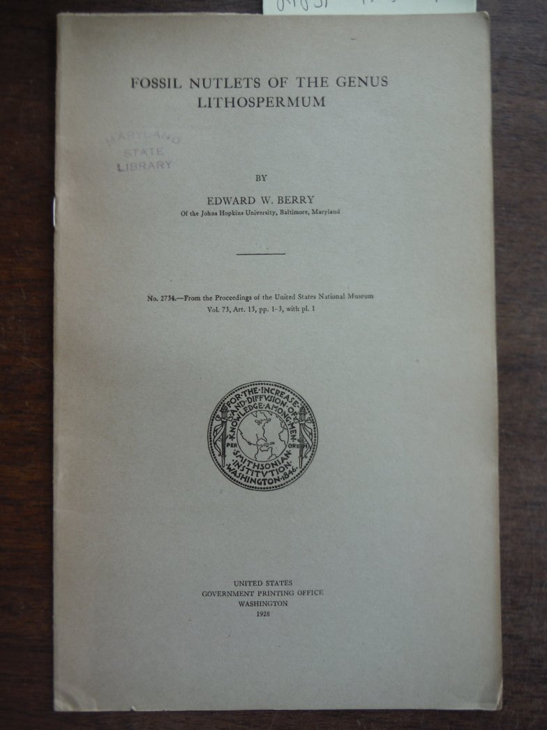 Fossil Nutlets of the Genus Lithospermum