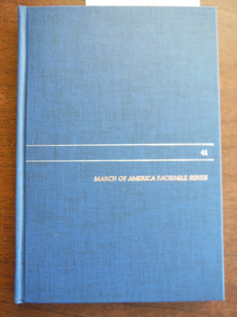 Travels in Pensilvania and Canada (March of America Facsimile Series Number 41)