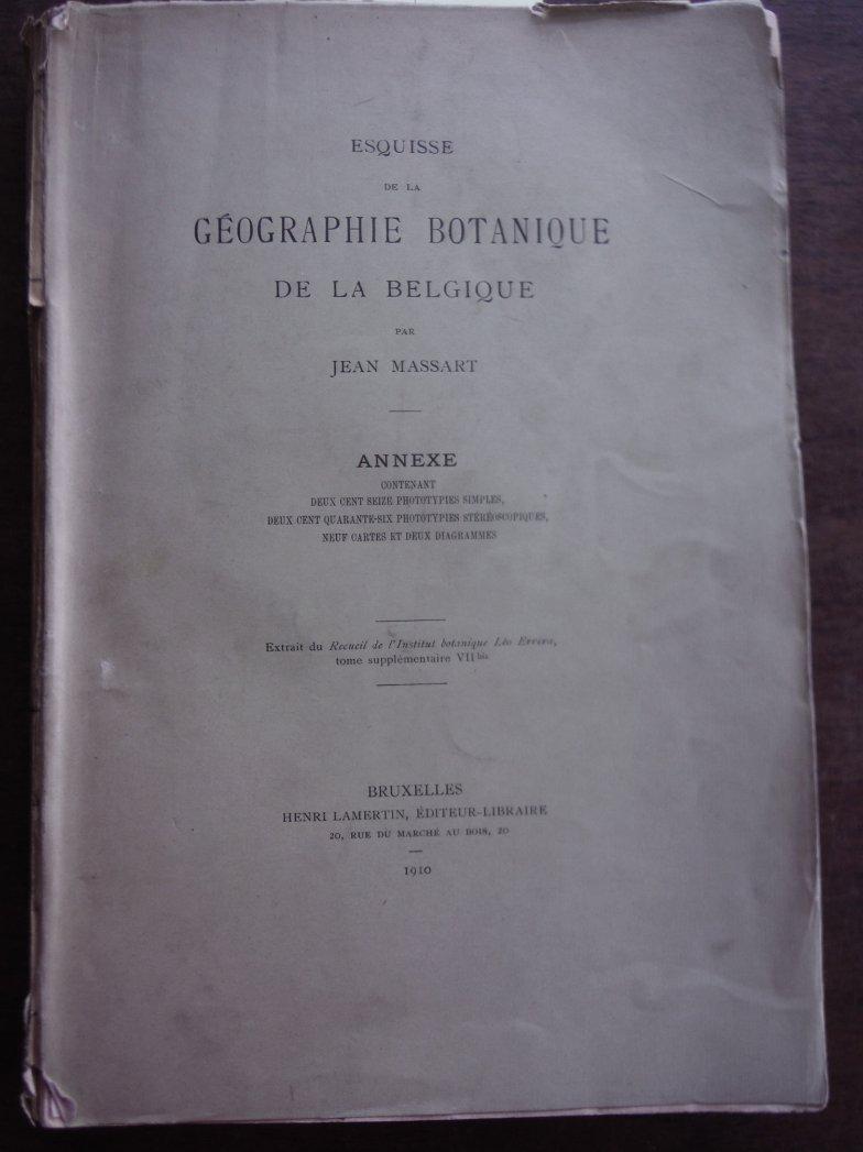 Esquisse de la Geographie Botanique de la Belgique.