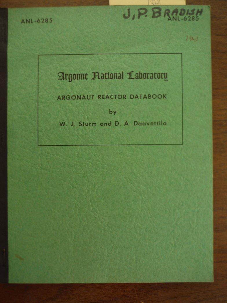Argonaut Reactor Databook