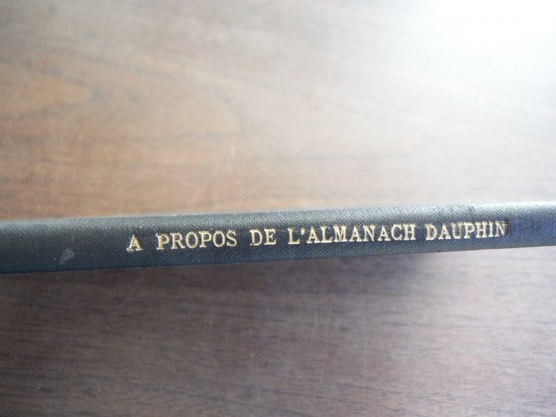 A Propos de L'Almanach Dauphin 1782