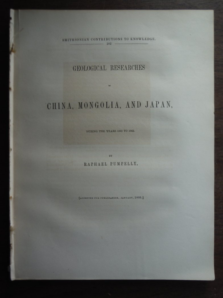 Geological researches in China, Mongolia, and Japan, during the years 1862 to 18