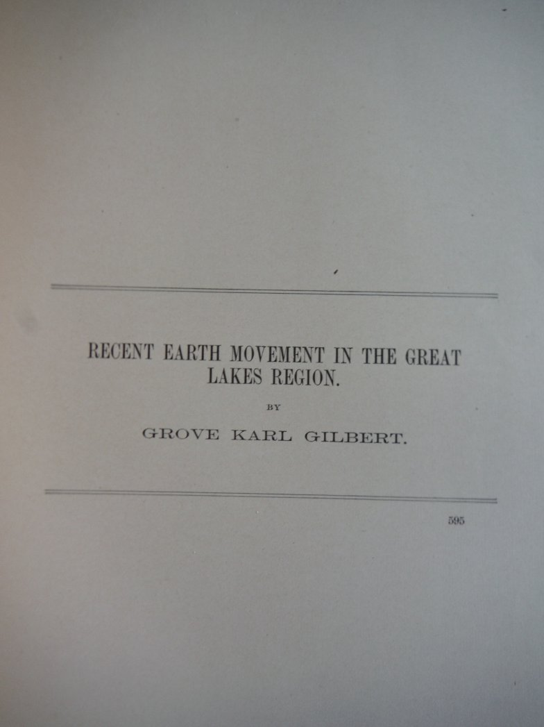 Recent Earth Movement in the Great Lakes Region
