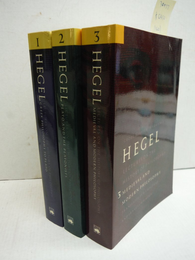 Lectures on the History of Philosophy (3 Vols)
