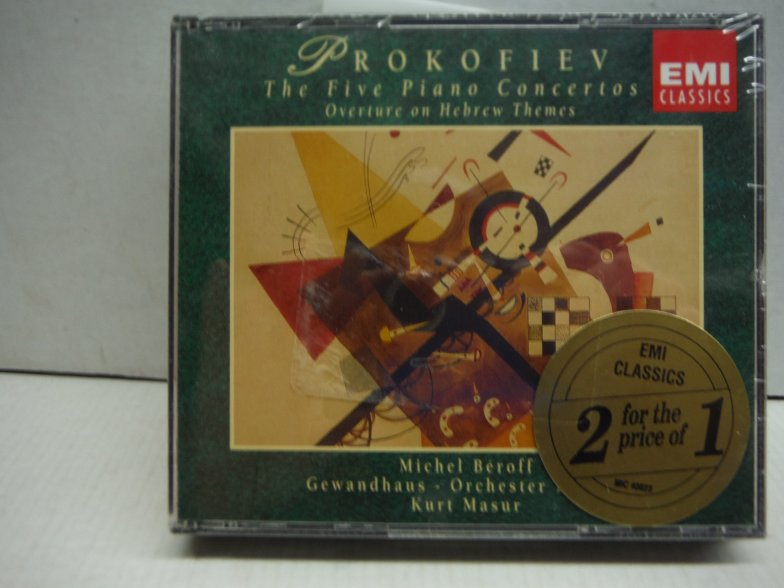 Prokofiev: The 5 Piano Concertos / Overture on Hebrew Themes / Visions Fugitives