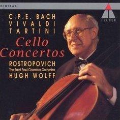 Bach Vivaldi Tartini Cello Concertos Mstislav Rostropovich CD