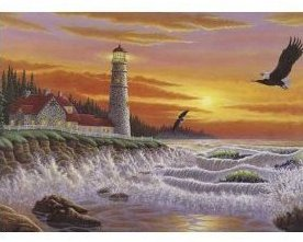The Guiding Light 1000 pc Lighthouse Puzzle Matherly