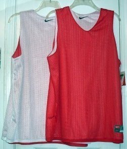 Mesh Tank Athletic Womens Nike Reversible Red White XL
