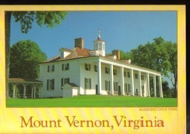 Mount Vernon Virginia  Washington DC Area Postcard