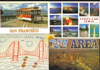 San Francisco Area Postcards Lot of 4 Group A California