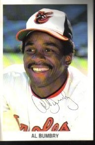 Al Bumbry Autographed Baltimore Orioles Postcard