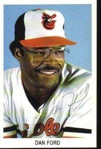 Dan Ford Autographed Baltimore Orioles Postcard MLB