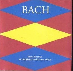 Bach Hans Leitner German Pipe Organ CD Collectible Rare