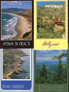 California Tourist Postcards Lot of 4 Group H
