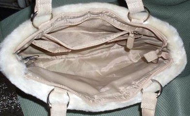 Image 2 of Microsuede Handbag Tote Satchel Purse Light Brown Microfiber