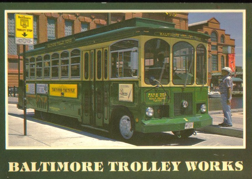 Baltimore Trolley Works, Baltimore, Maryland Postcard