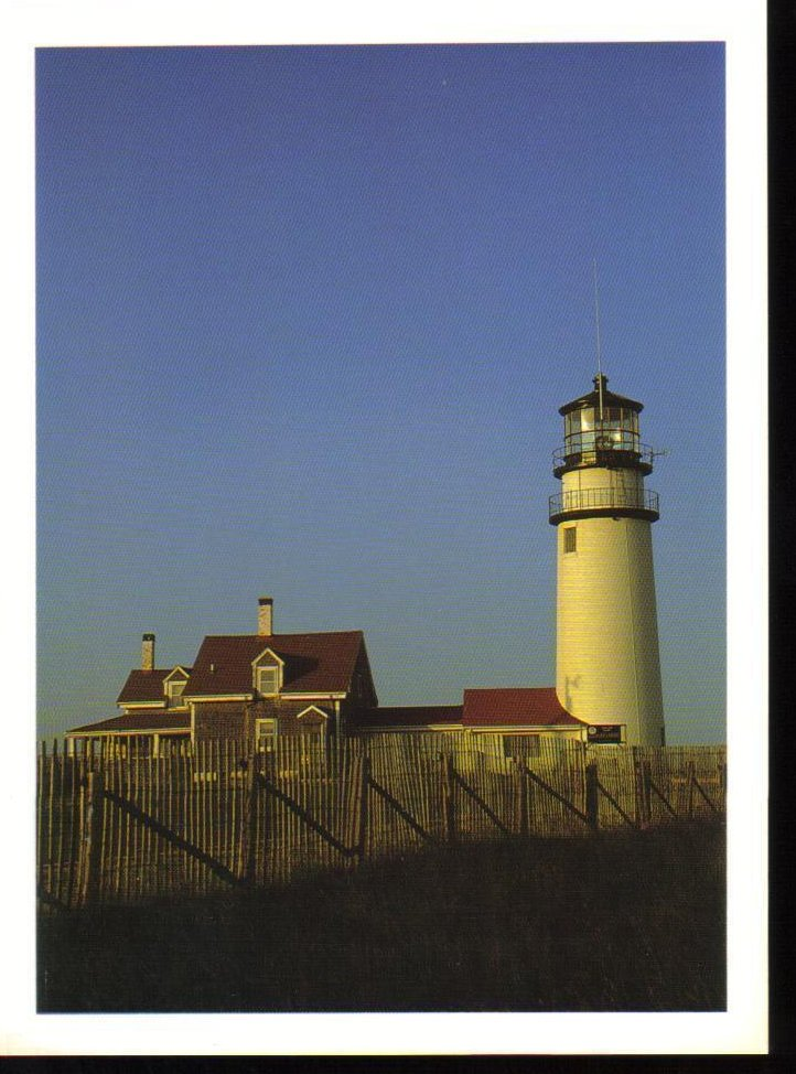 Cape Cod Lighthouse, Truro, Massachusetts Postcard