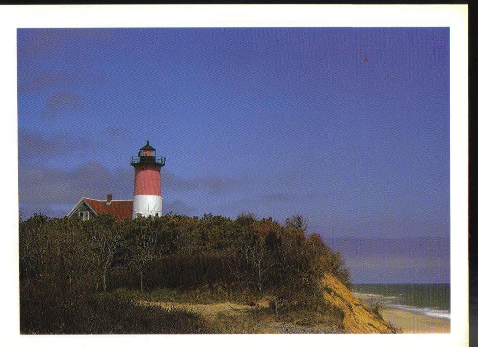 Nauset Lighthouse Massachusetts Postcard