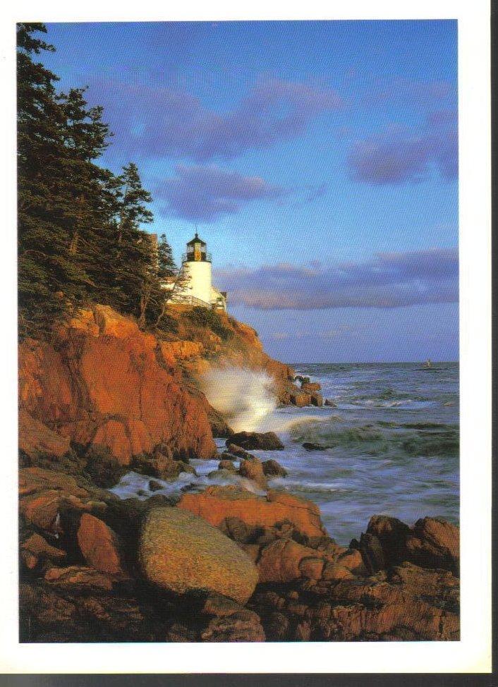 Bass Head Lighthouse Maine Postcard