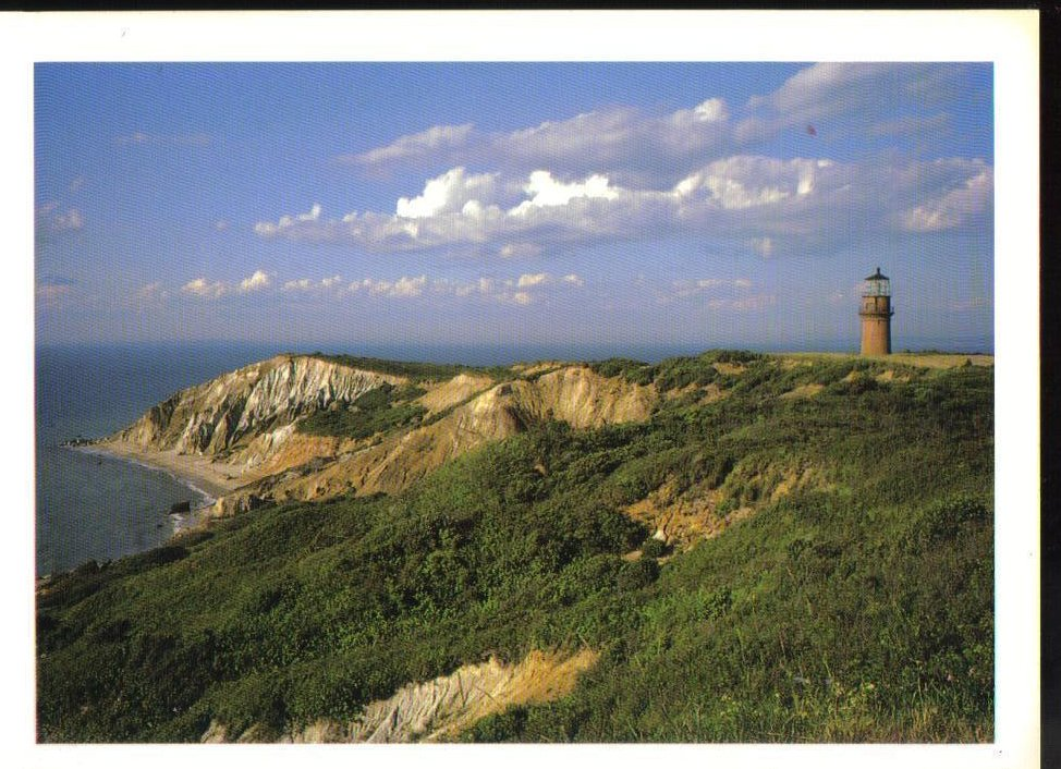 Gay Head Lighthouse Massachusetts Postcard Martha's Vineyard