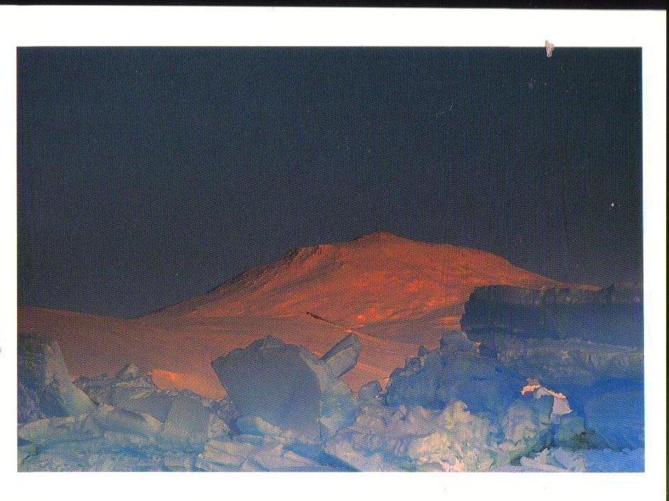 Midnight Sun on Mount Erebus Antarctica Postcard