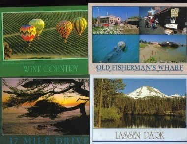 California Tourist Postcards Lot of 4 Group L