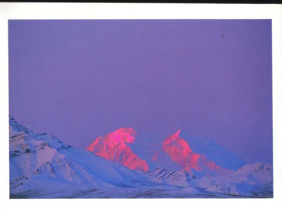 Sunrise on Mount McKinley Alaska Postcard