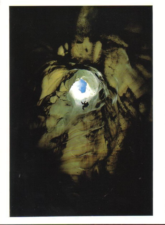 Ice Cave near crater rim of Mt Erebus Ross Island Antarctica Postcard