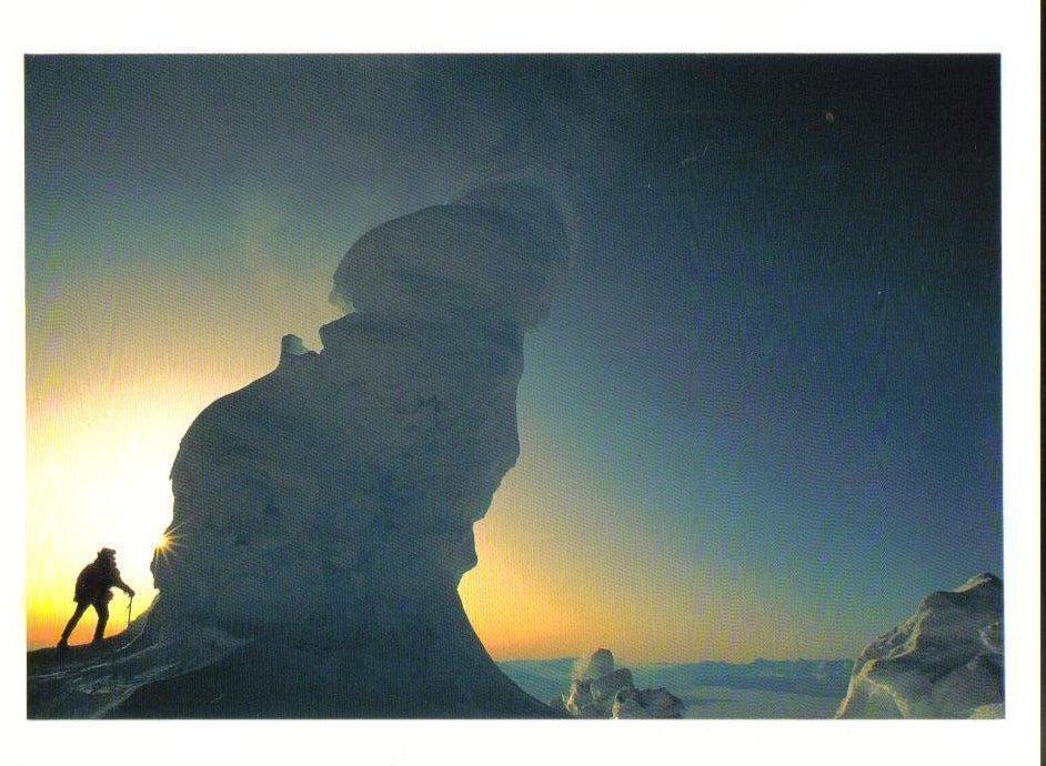 Midnight on Ice Tower Ridge Antarctica Postcard