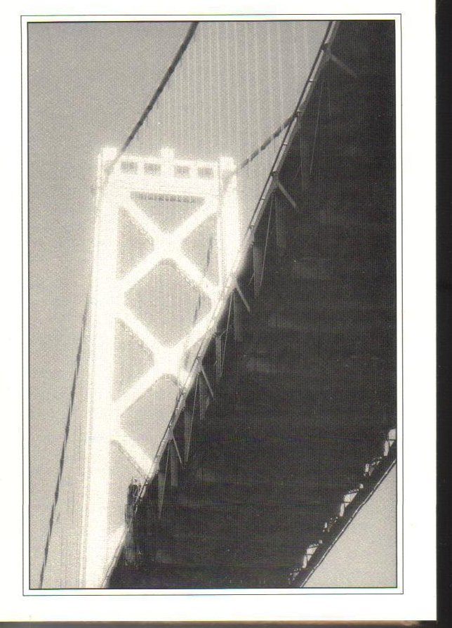 Mystical Bridge- Bay Bridge-San Francisco, California Postcard